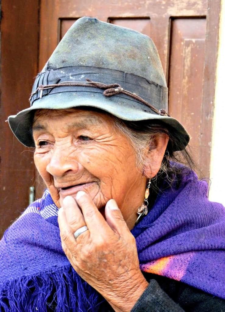 Elderly woman in Nono, Ecuador
