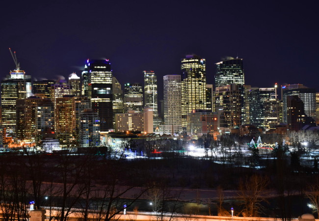 PHOTO OF THE WEEK:  A COLD NIGHT IN CALGARY