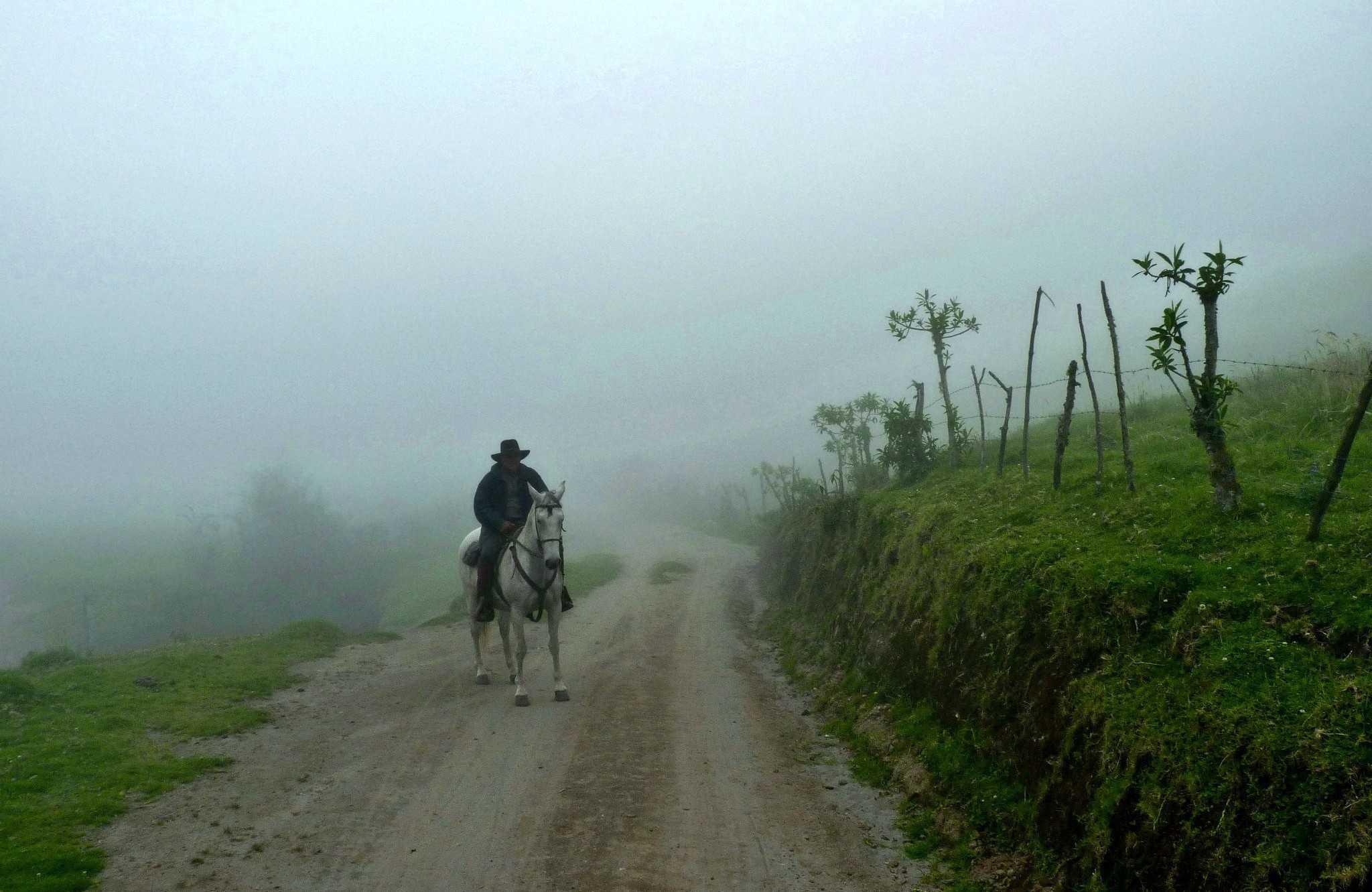 Riding in Nono, Ecuador