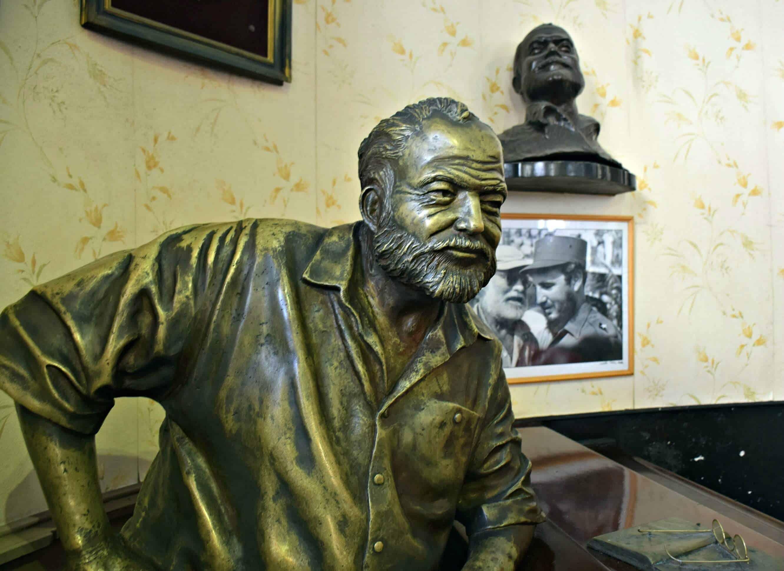 Hemingway Bust, Floridita, Havana, Cuba