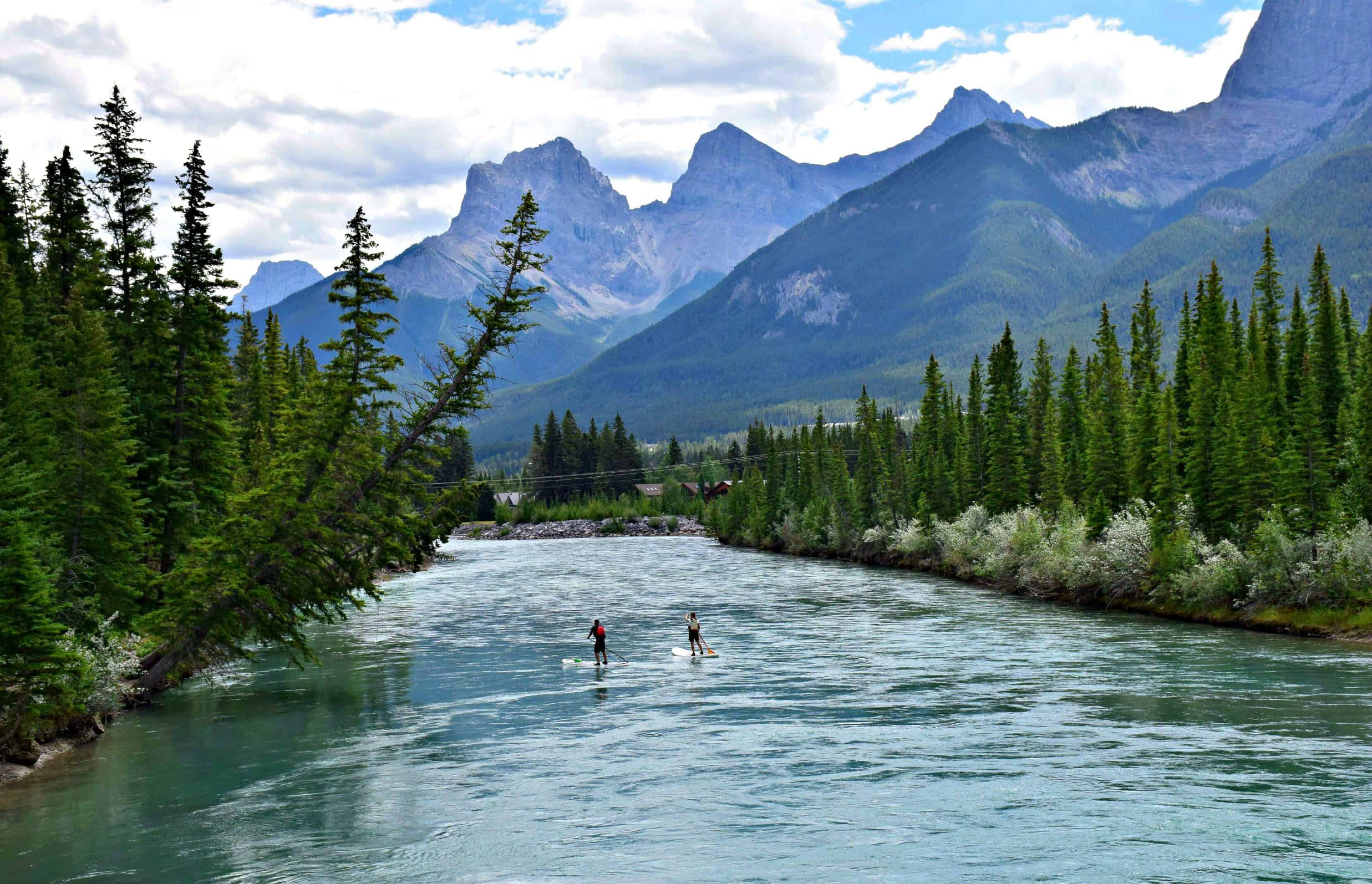 Bow River, Canmore, Alberta, Canada